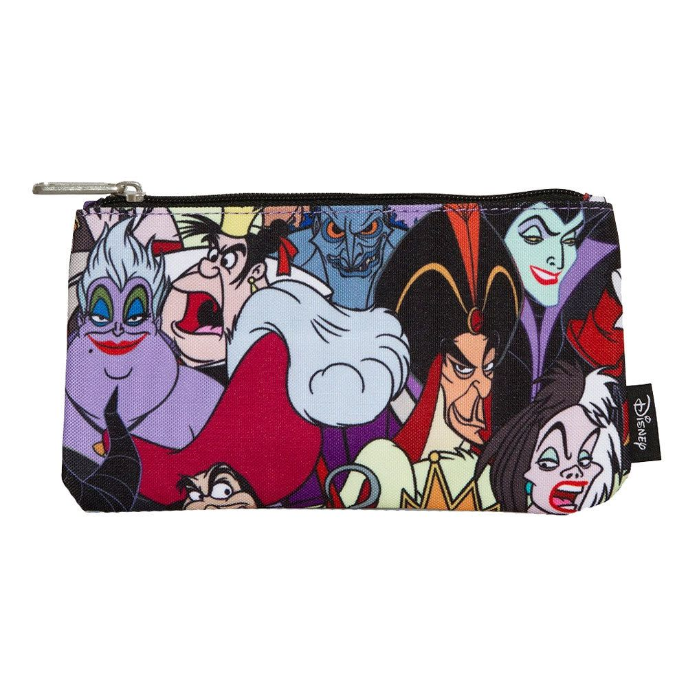 Loungefly Disney Villians Cosmetic Bag, character pencil case, multicolor