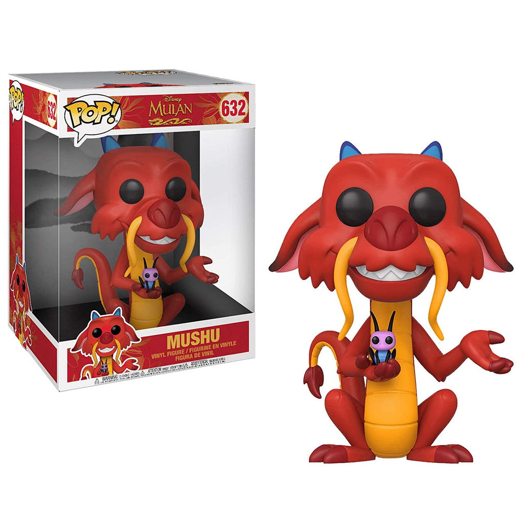 "Funko Pop! Disney #632: Mulan - Mushu 10"" inches"
