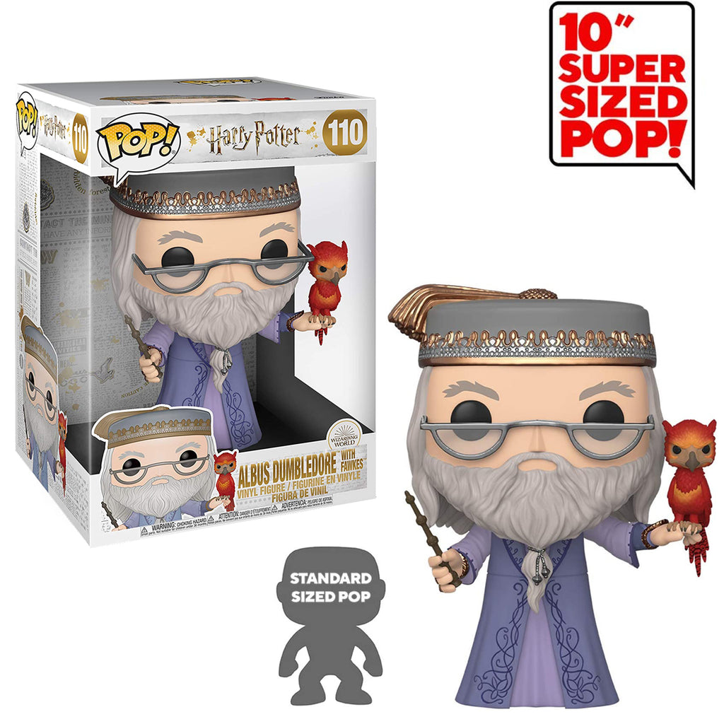 "Funko Pop! Harry Potter #110: Harry Potter- 10"" Albus Dumbledore With Fawkes"