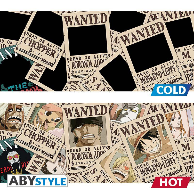 ONE PIECE - Mug Heat Change - 460 ml - Wanted
