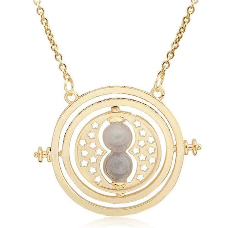 Necklace Hourglass Necklace Time Turner Rotating Pendant