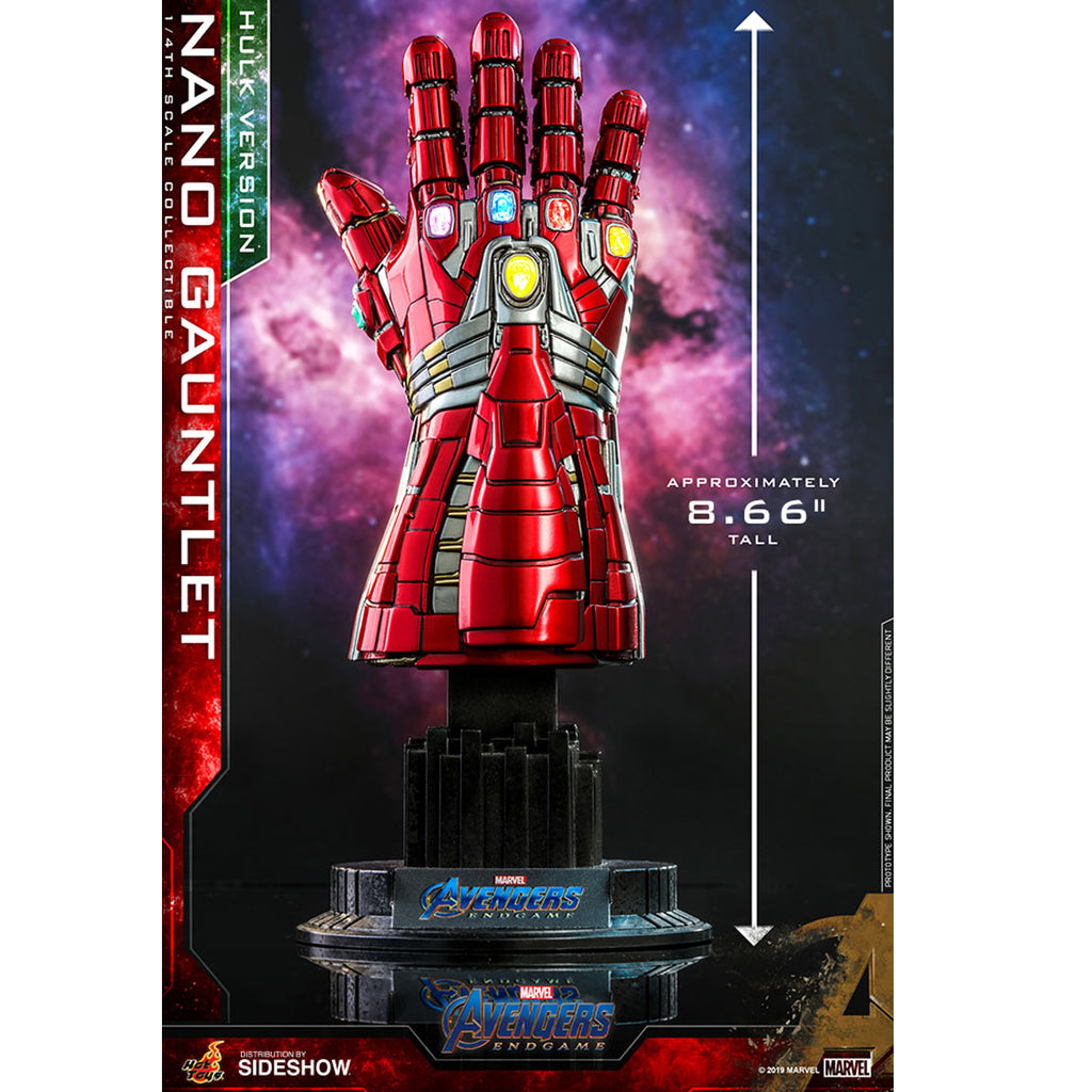 Hot Toys Avengers Endgame Nano Gauntlet Hulk Version Quarter Scale Replica