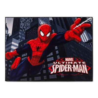 Gertmenian  Marvel Ultimate Spiderman Rug HD Digital Kids Bedding Room , multicolor