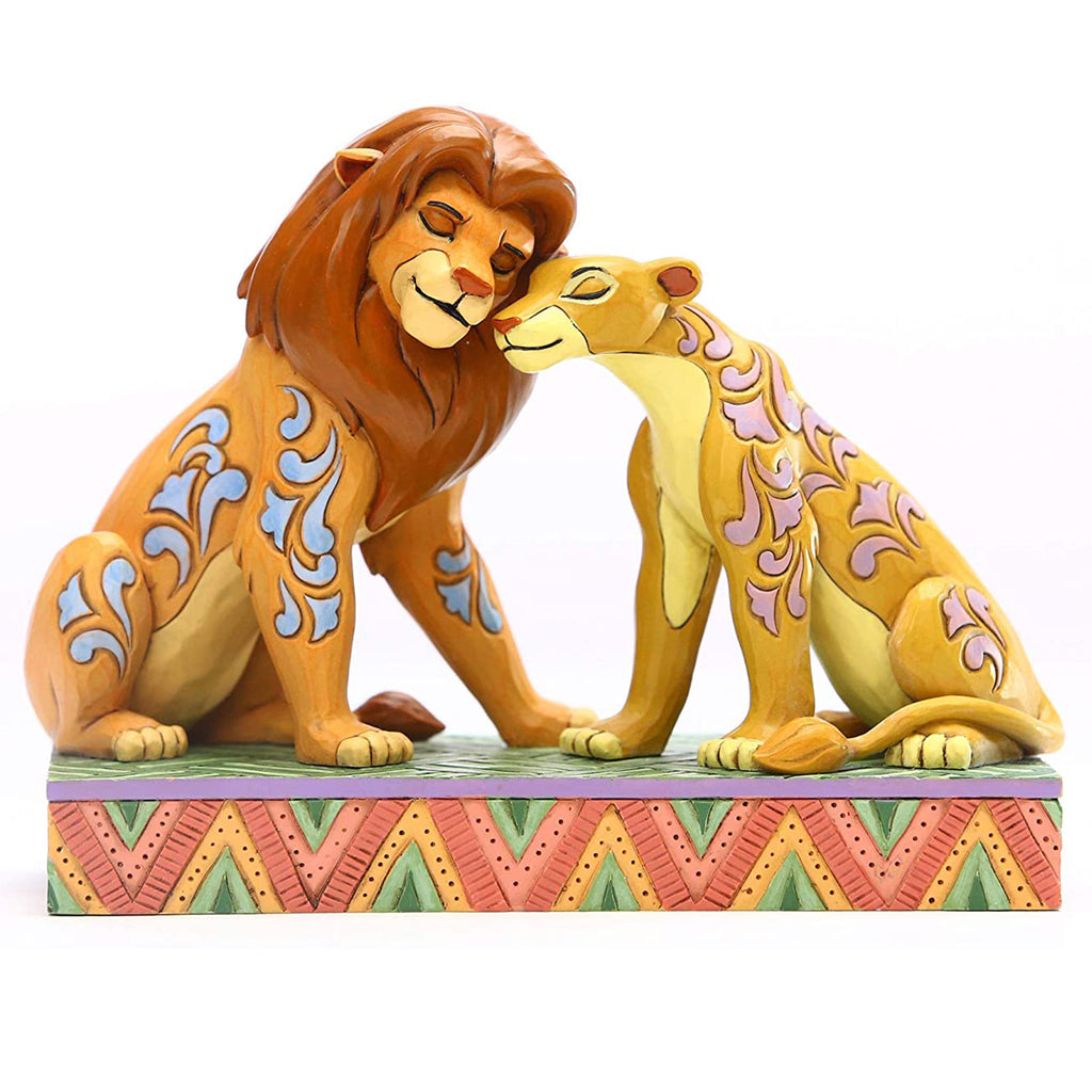 Enesco Disney Traditions by Jim Shore Simba and Nala Snuggling Figurine
