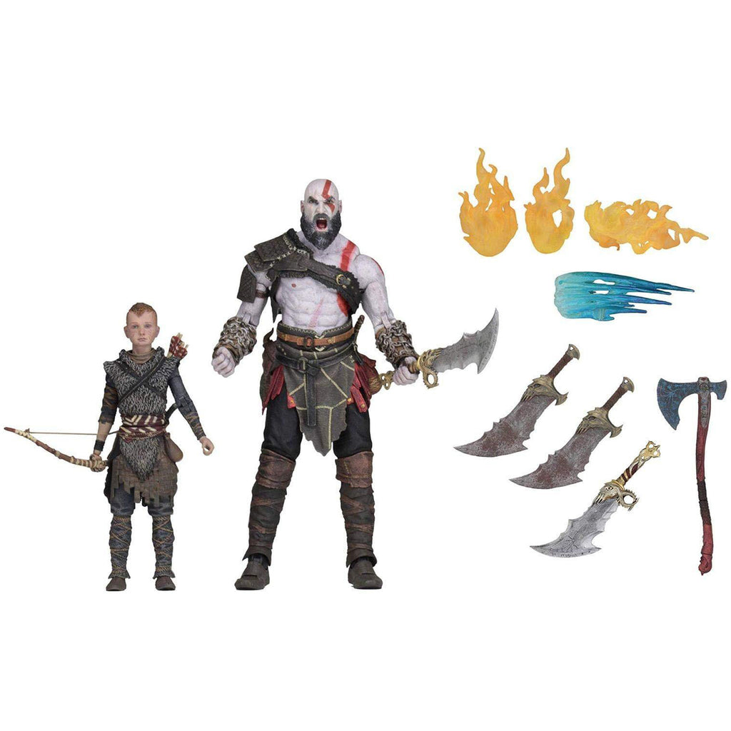 "NECA God of War (2018) - 7"" Scale Action Figure - Ultimate Kratos & Atreus, Multicolor"