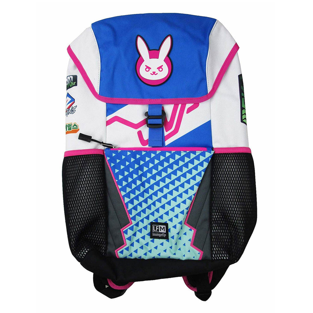 Loungefly x Overwatch D.Va Patch Backpack (Multicolored, One Size)