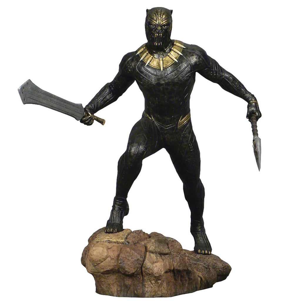 DIAMOND SELECT TOYS Marvel Gallery Black Panther Movie Killmonger PVC Diorama