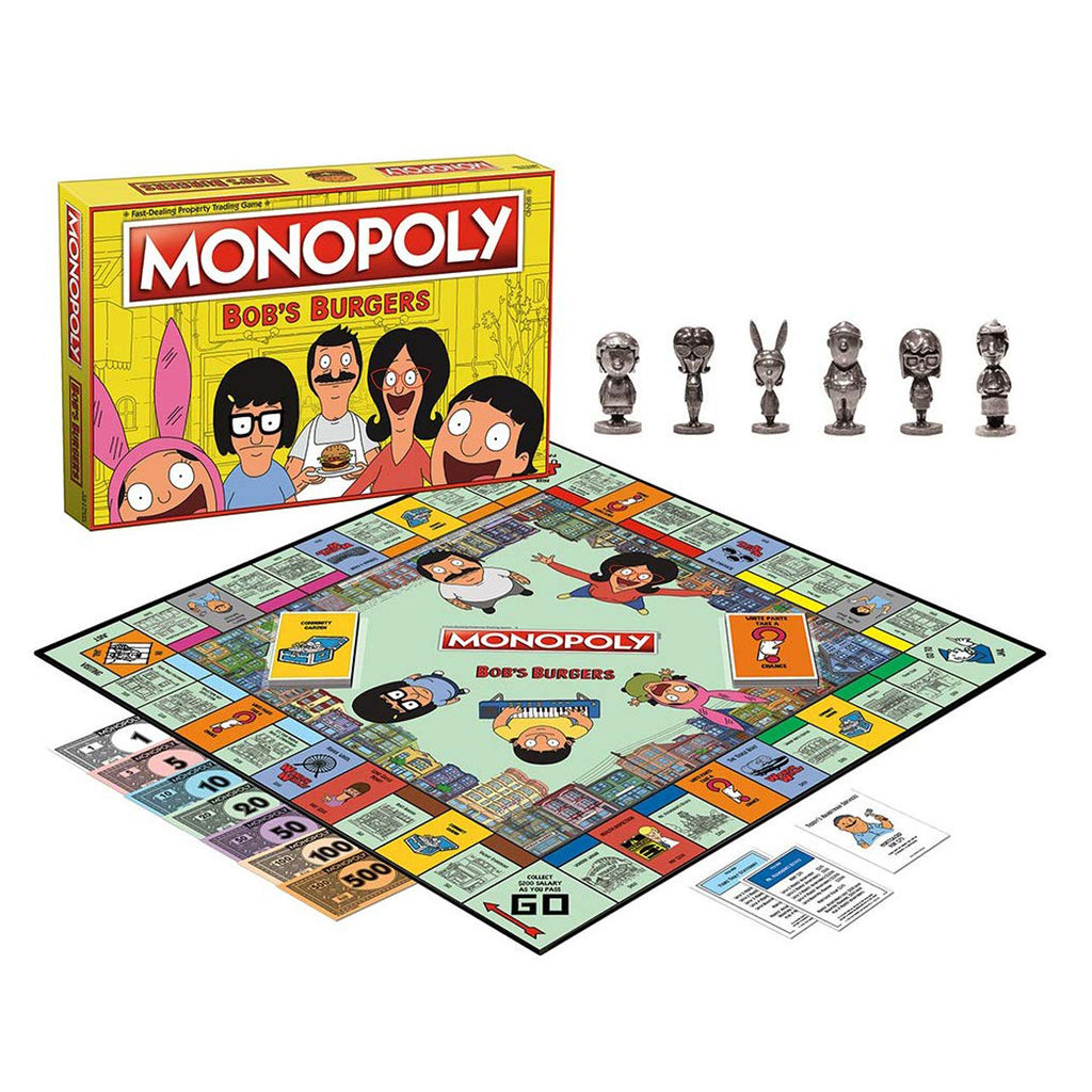 Monopoly Bob's Burgers, Board Game Family and Kids Ages 8+