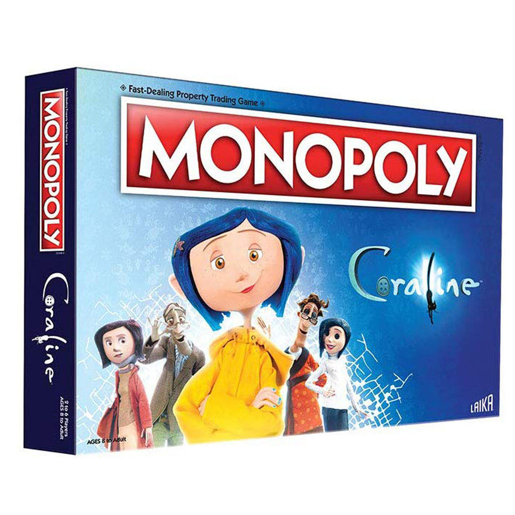 Monopoly Coraline, Board Game Family and Kids Ages 8+