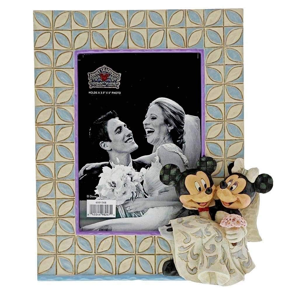 Enesco Disney Traditions by Jim Shore Mickey and Minnie Wedding Frame, 7.25 Inches High