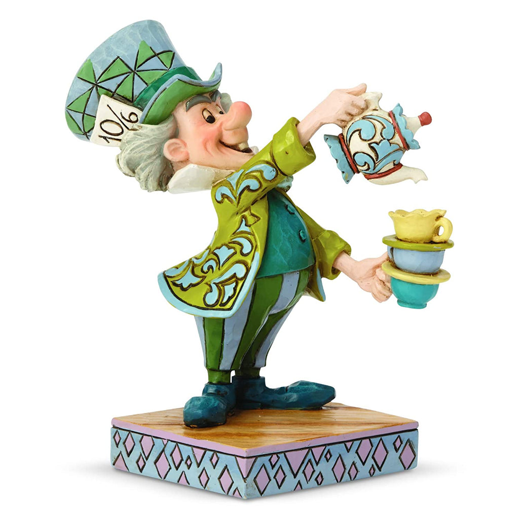 Enesco Disney Traditions by Jim Shore Alice in Wonderland Mad Hatter Figurine, 4.92 Inch, Multicolor