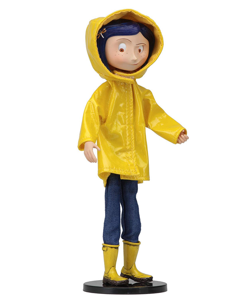 Neca -Coraline Bendy Doll in Rain Coat, Collectible Figure