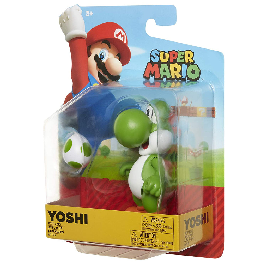 "Nintendo Super Mario Nintendo 4"" Green Yoshi with Egg"