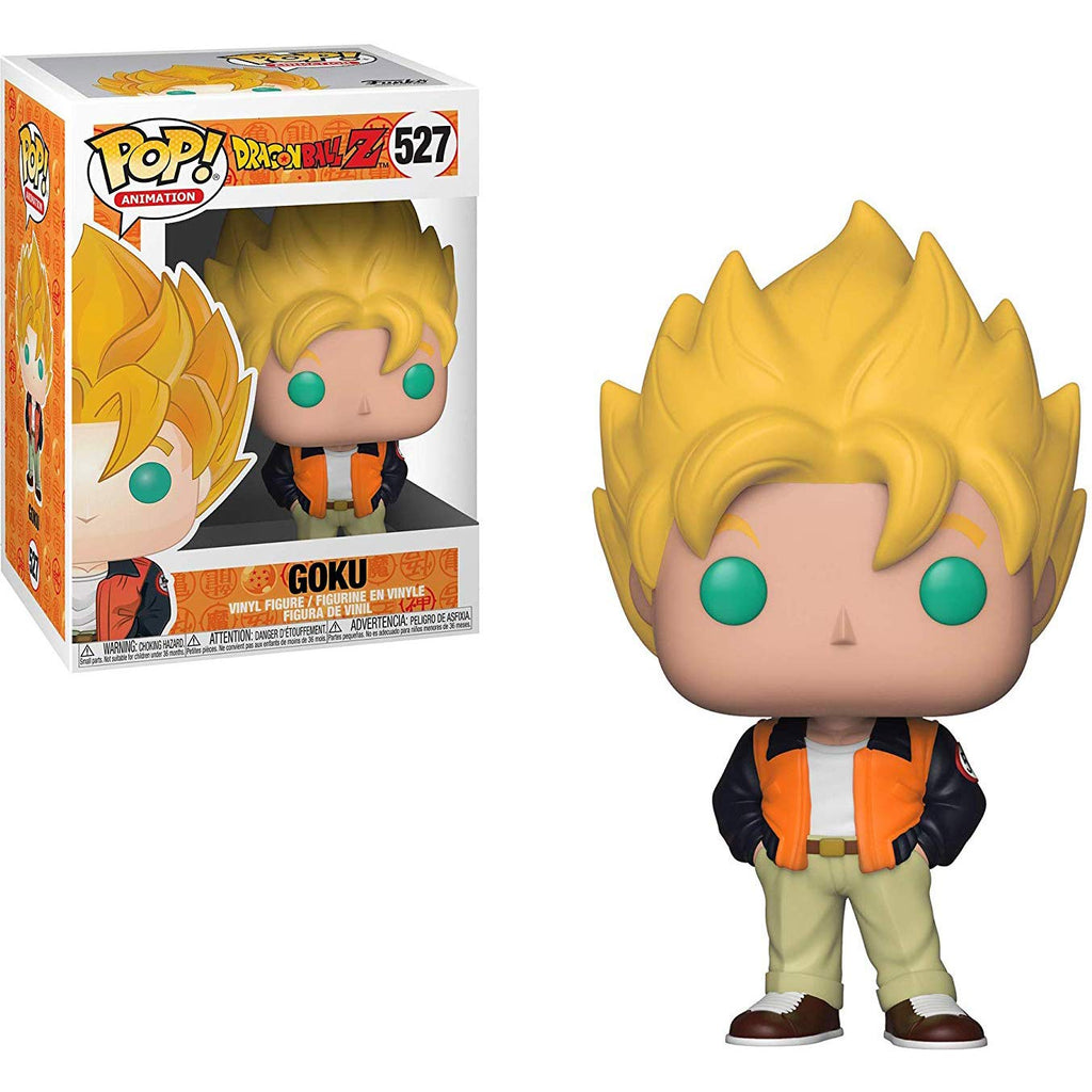 Funko Pop! Animation: Dragon Ball Z - Goku (Casual) Toy, Standard, Multicolor