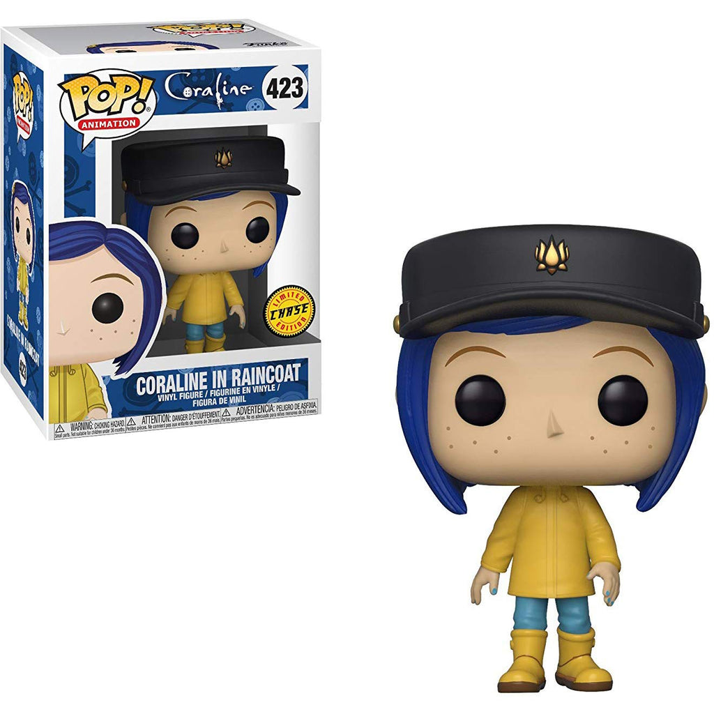 Funko Pop! Movies: Coraline in Raincoat (Chase Edition) Toy Collectible Figure, Standard, Multicolor