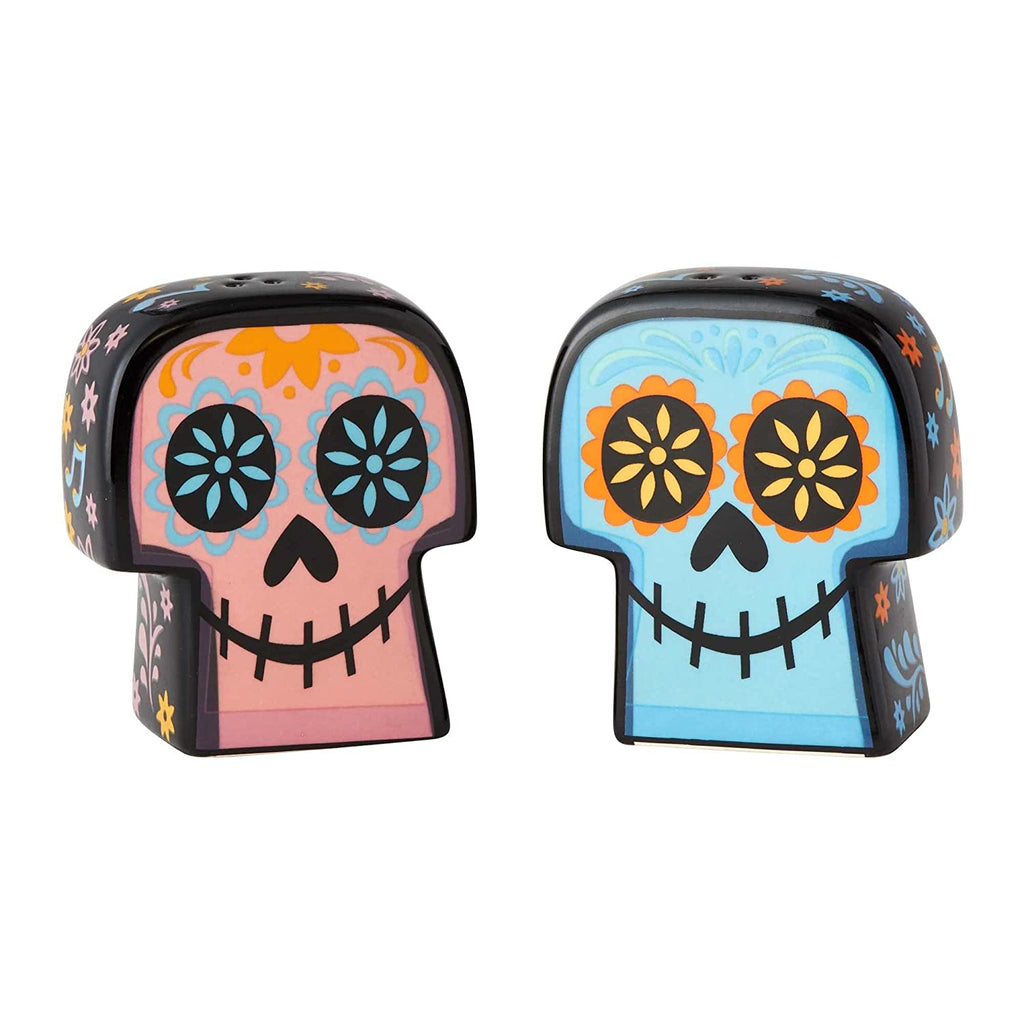 "Enesco Disney Coco"" Day of The Dead Ceramic, 2.75"" Salt and Pepper Shakers, Multicolor"
