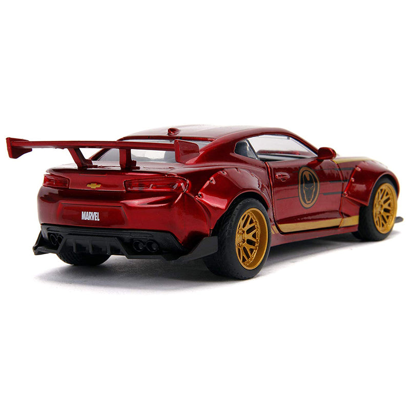 Jada Toys Avengers 2016 Chevy Camaro Iron Man Red 1/32 Diecast Model Car