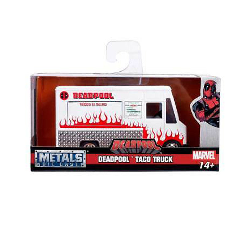 Jada Toys Deadpool Taco Truck White Marvel Series 1/32 Diecast