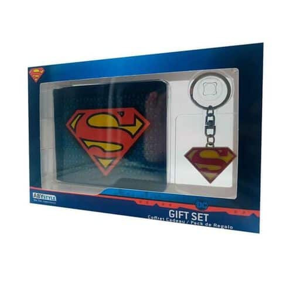 ABYSTYLE DC WALLET & KEYCHAIN SUPERMAN GIFT SET