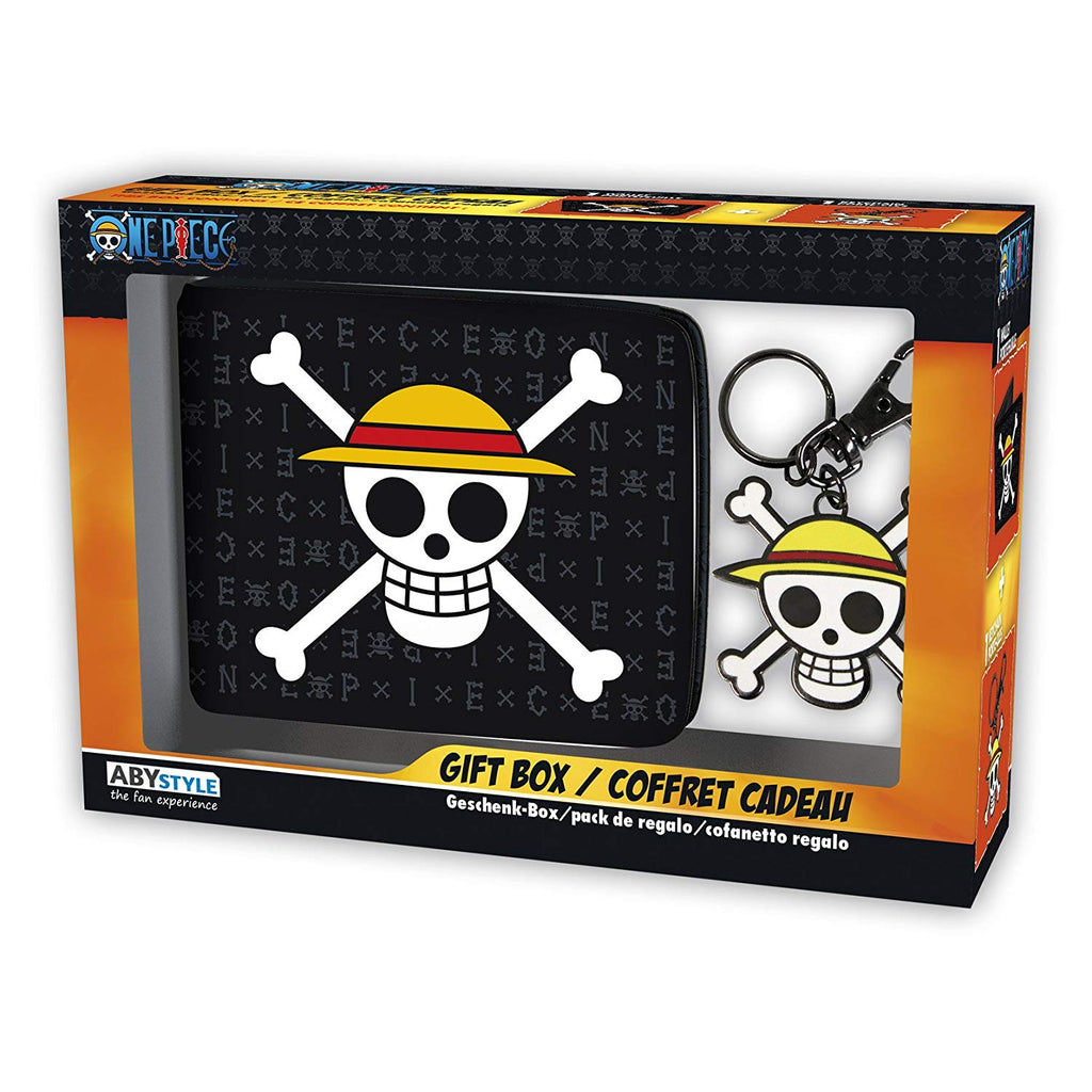 One Piece -Luffy 2 PC Wallet and keychain AbyStyle