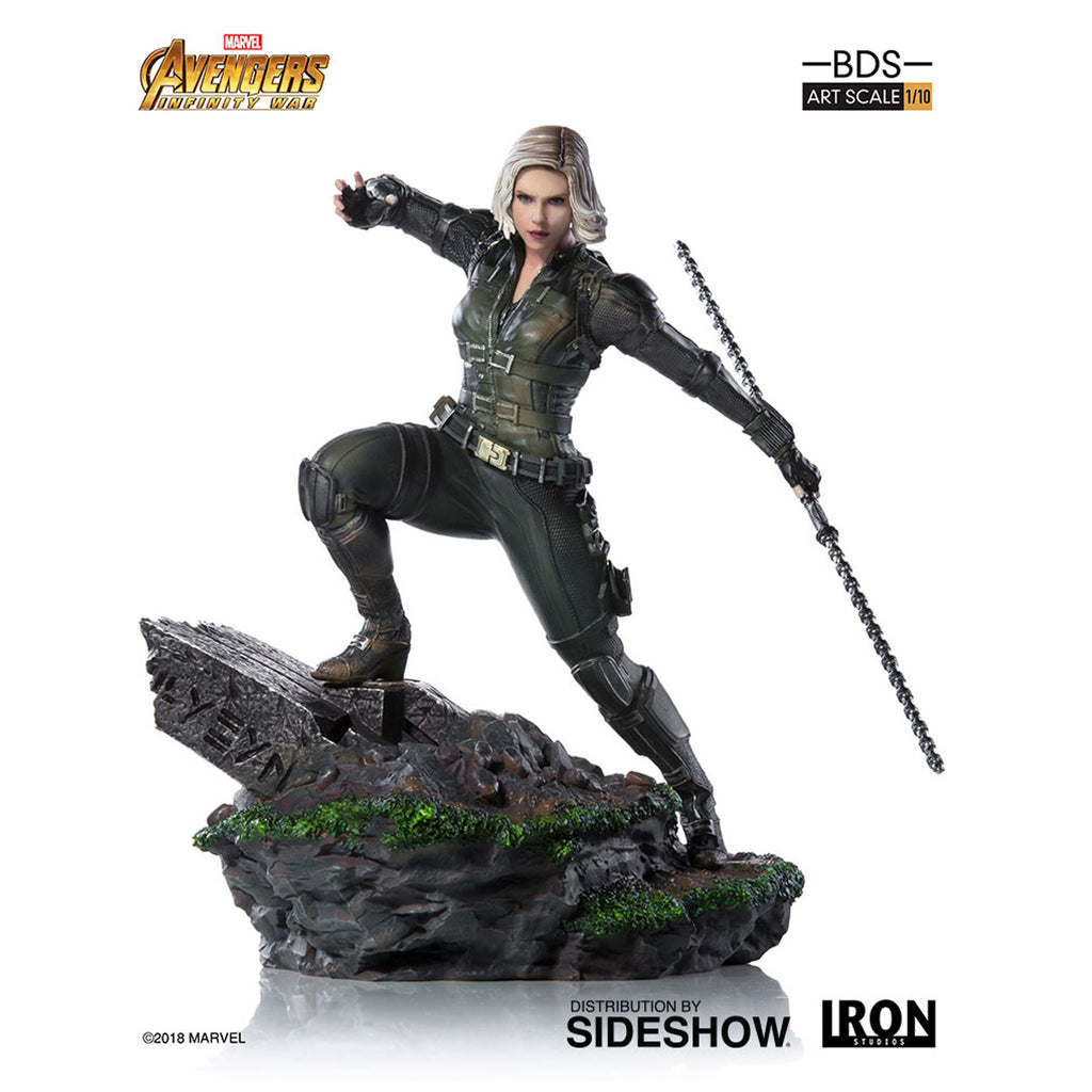 Iron Studios Avengers: Infinity War Black Widow Art Scale 1:10 Battle Diorama