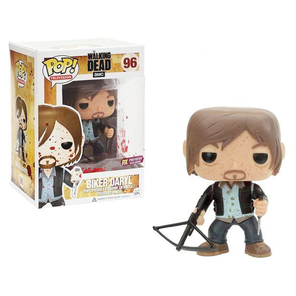 Funko Pop! The Walking Dead: Bloody Version Biker Daryl Previews Exclusive