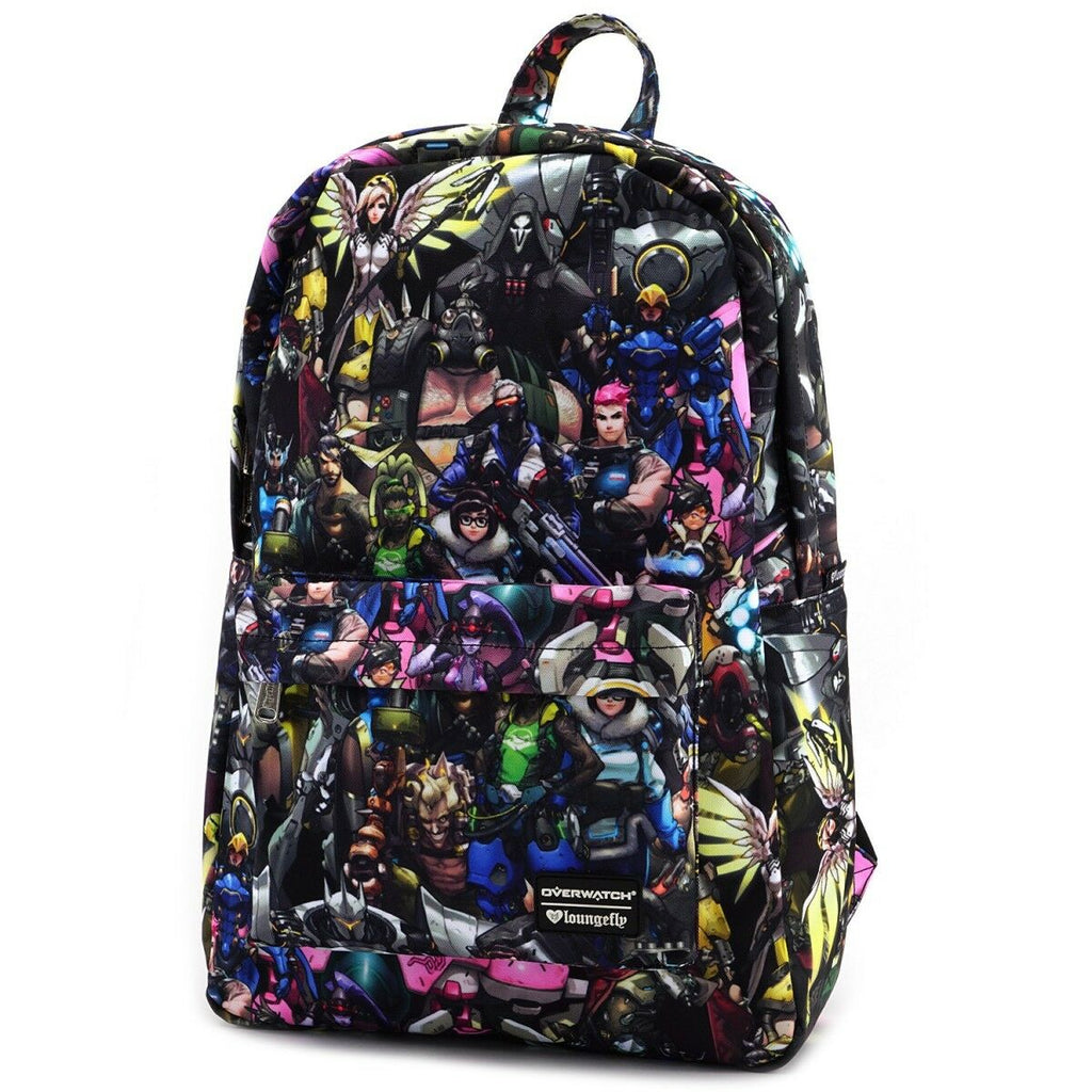 Loungefly Overwatch All-Over-Print Characters Backpack Standard
