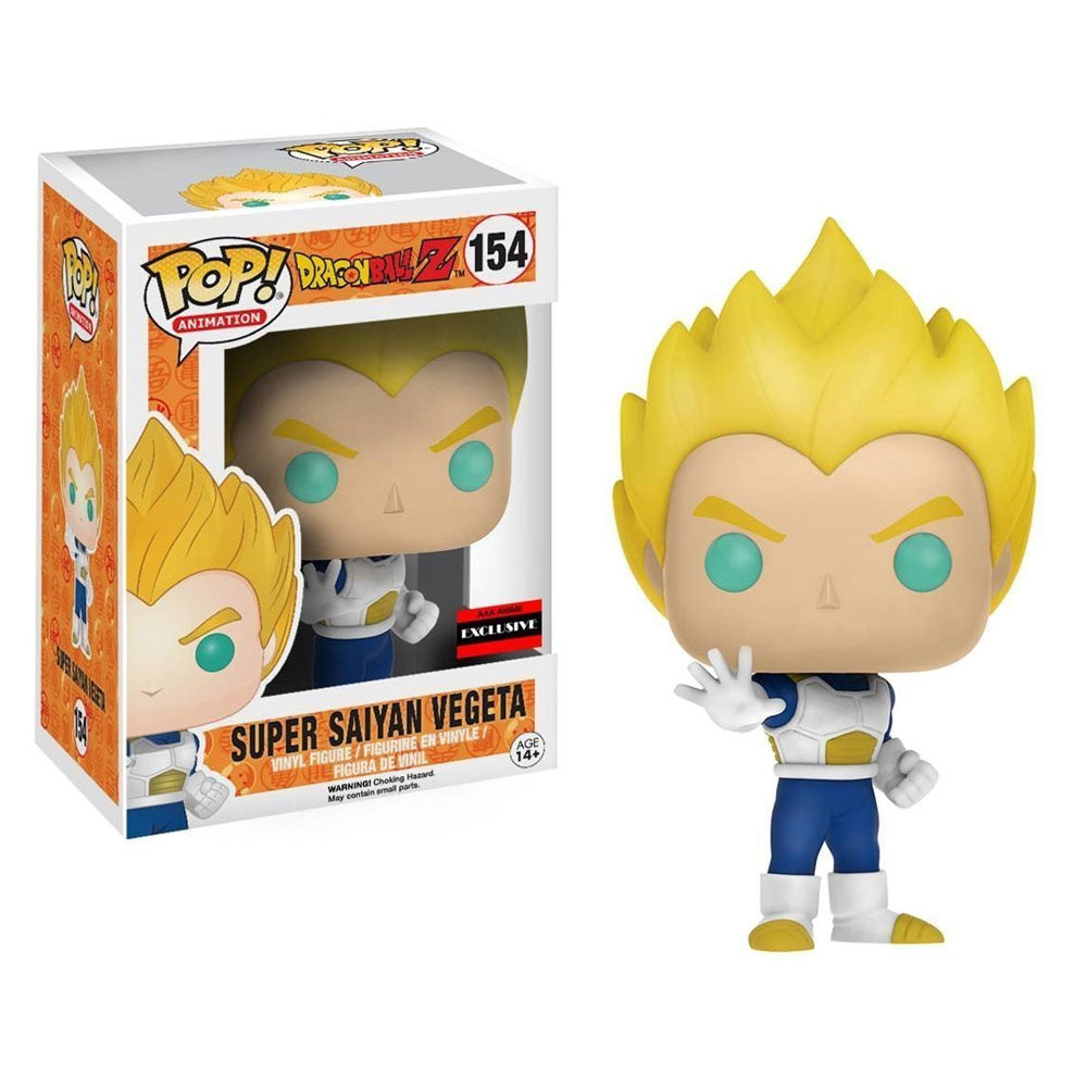 "Funko Pop Animation #154 Dragon Ball Z - Super Saiyan Vegeta ""AAA Anime Exclusive"""