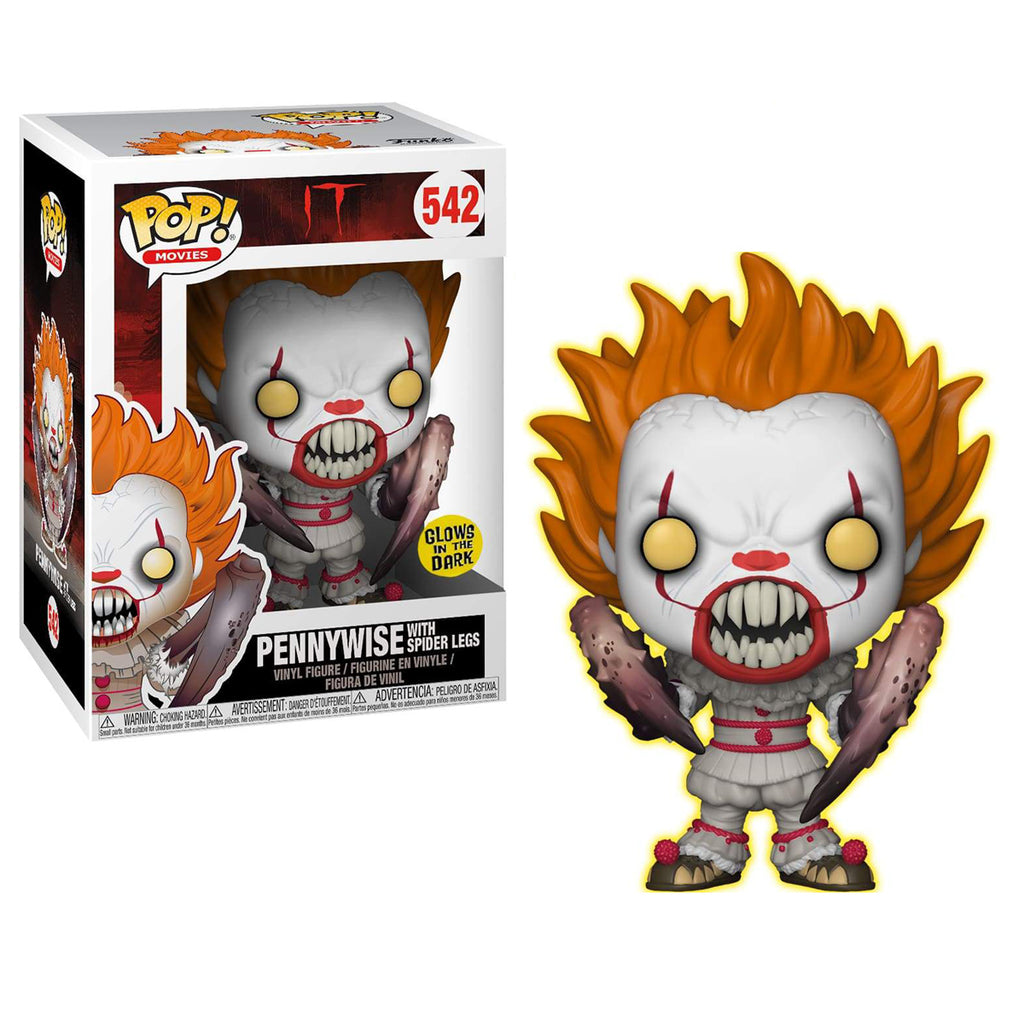 Funko POP! Movies: IT: Pennywise with Spider Legs Glow-in-The-Dark Entertainment Earth Exclusive