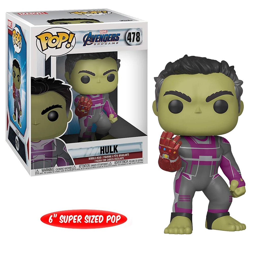 "Funko Pop! Marvel #478: Avengers Endgame - 6"" Hulk with Gauntlet"