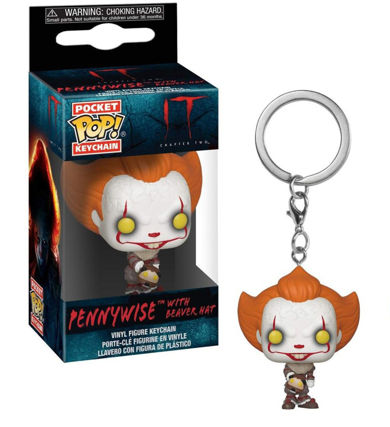 Funko Pocket Pop Keychain IT - Pennywise with Beaver Hat