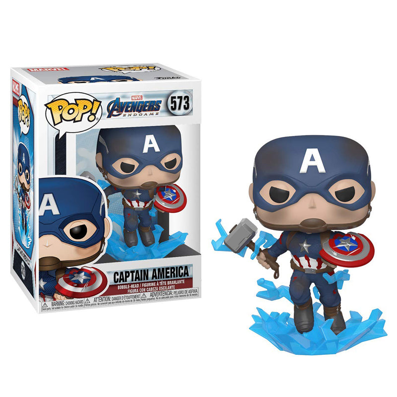 Funko Pop! Marvel #573: Avengers Endgame - Captain America with Broken Shield & Mjoinir