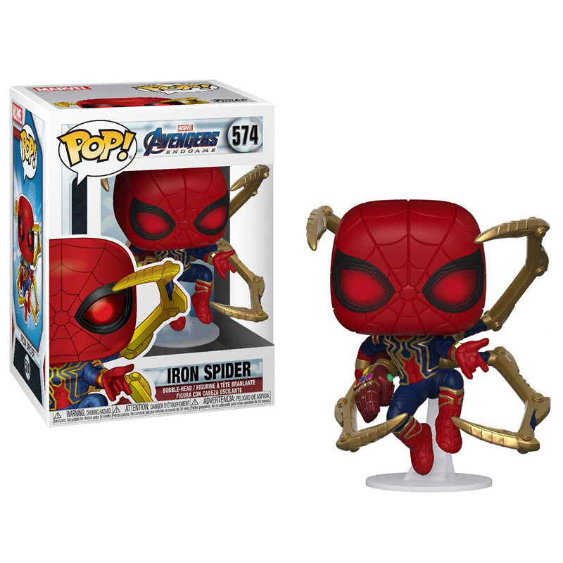 Funko Pop! Marvel: Avengers Endgame - Iron Spider with Nano Gauntlet Collectible Figure, Standard, Multicolor