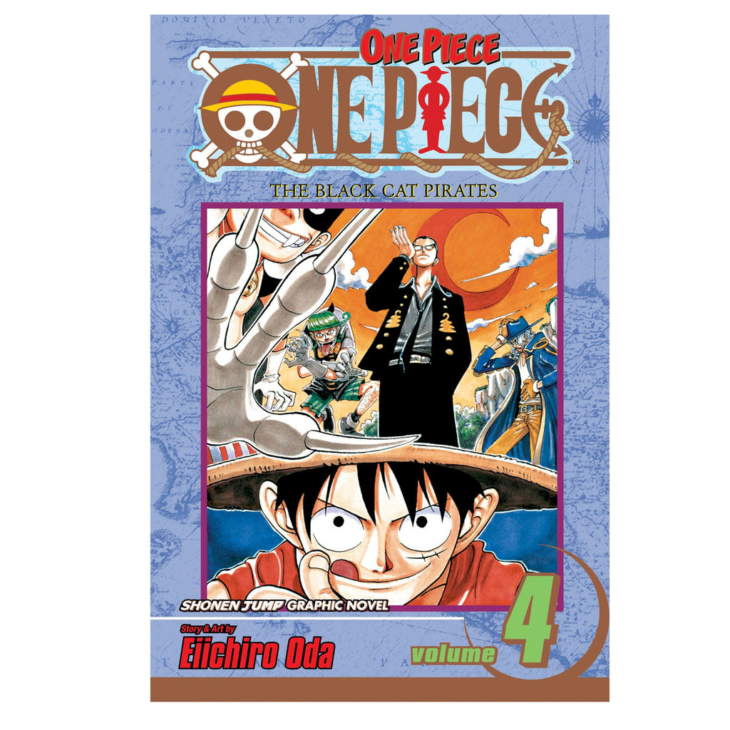 One Piece Vol. 4: The Black Cat Pirates - Paperback