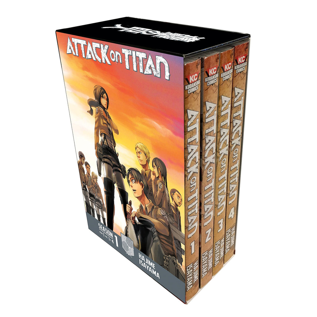 Attack on Titan Season 1 Part 1 Manga Box Set Paperback