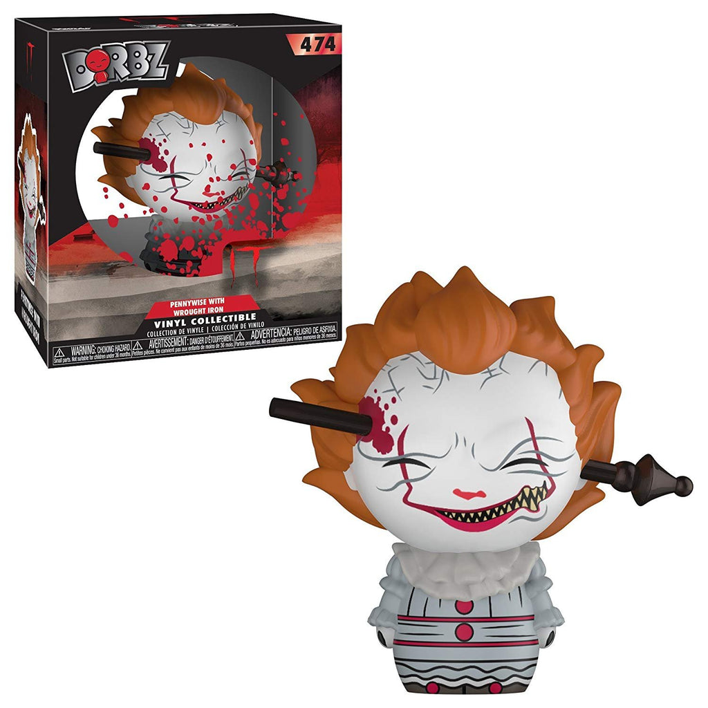 Funko Dorbz: Movies -It: Pennywise (With wrought Iron), Standard figure, multicolor