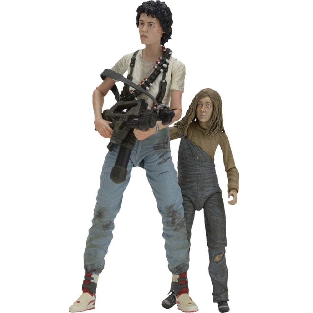 "NECA 30th Anniversary Aliens ""Rescuing Newt"" Scale Action Figure (2 Pack), 7"""