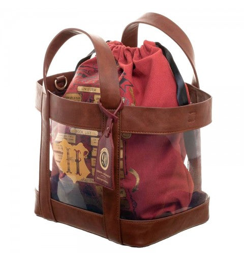 Harry Potter Hogwarts Clear Tote w/ Cinch Bag