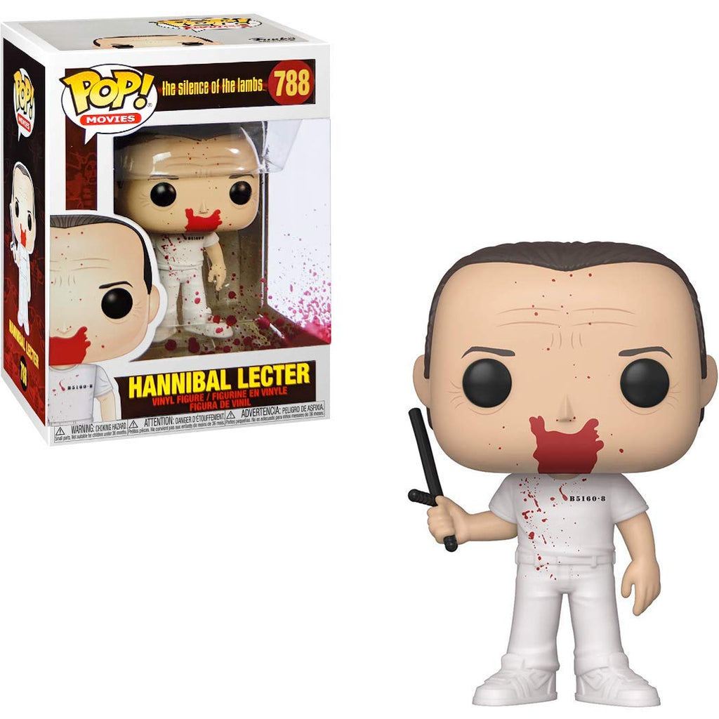 Funko Pop! Movies: The silence of teh lambs - Hannibal Lecter (Blood version) Toy Collectible Figure, Standard, Multicolor