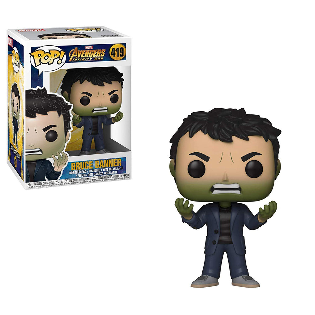 Funko Pop! Marvel: Avengers Infinity War - Bruce Banner with Hulk Head Collectible Figure, Standard, Multicolor