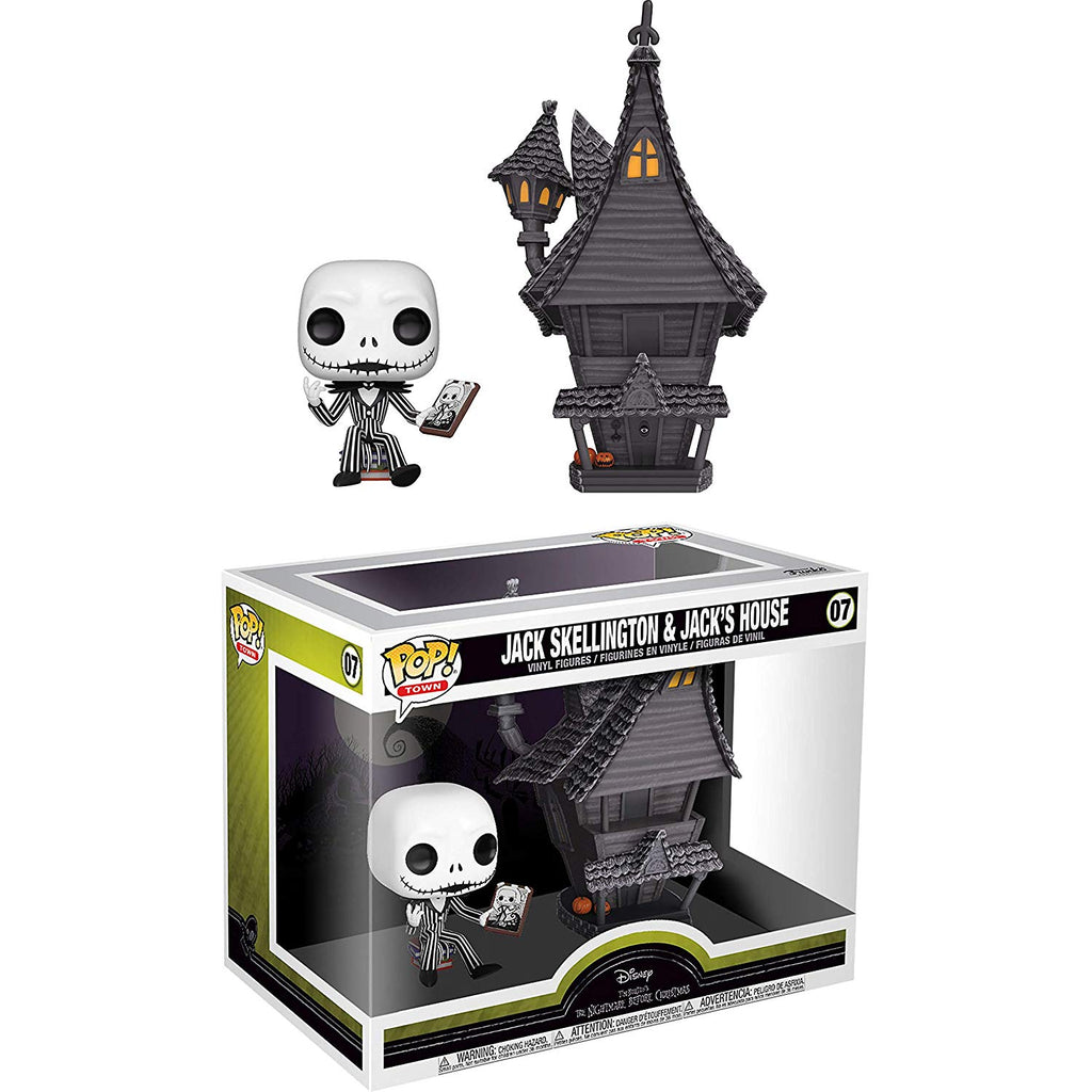 Funko Pop! Town: Nightmare Before Christmas - Jack Skellington with Jack's House,  Multicolor