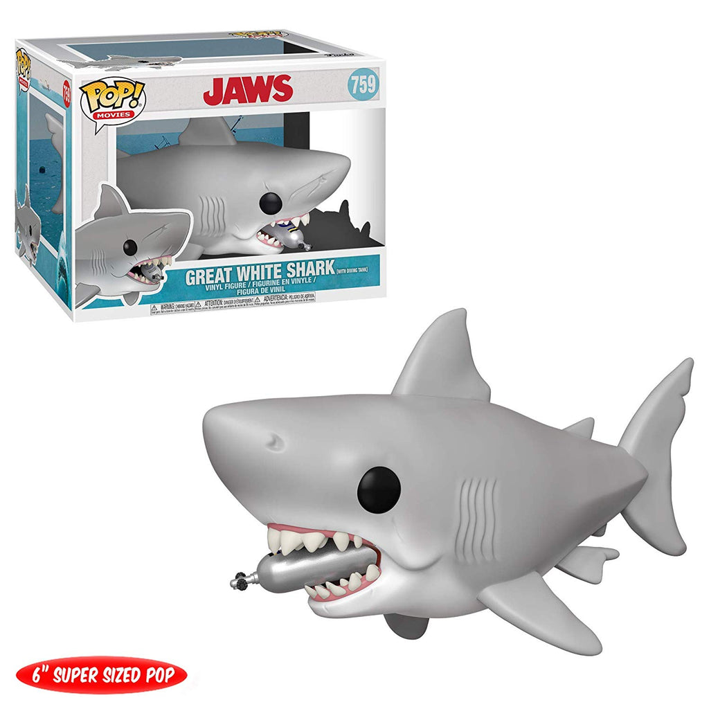 "Funko Pop! Movies: Jaws - Jaws with Diving Tank 6"" inch"