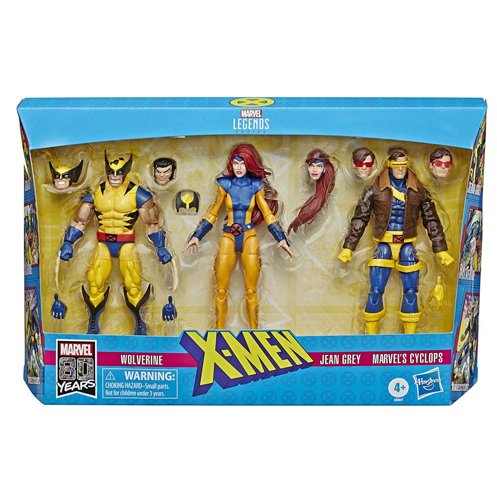 Marvel Legends X-Men Jean Grey, Cyclops, and Wolverine 6-Inch Action Figure 3-Pack