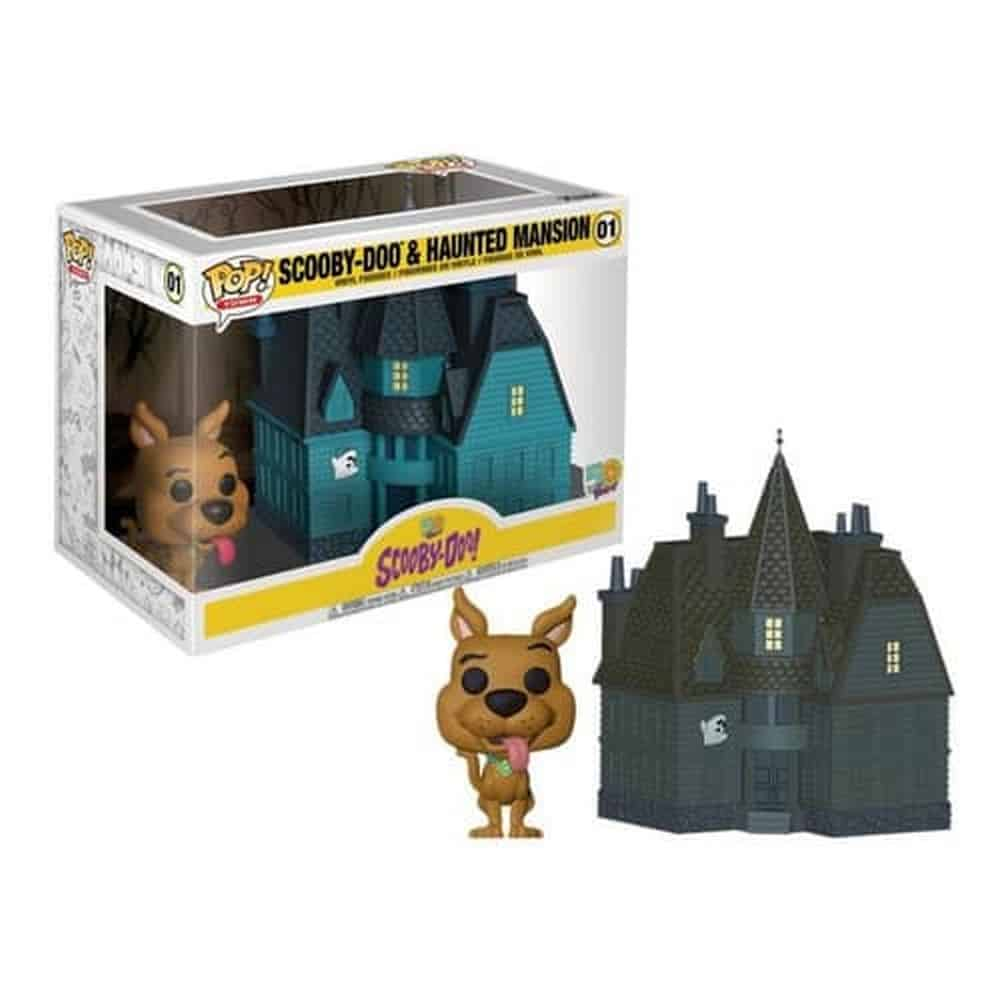 Funko Pop! Town: Scooby Doo - Scooby with Haunted Mansion,  Multicolor