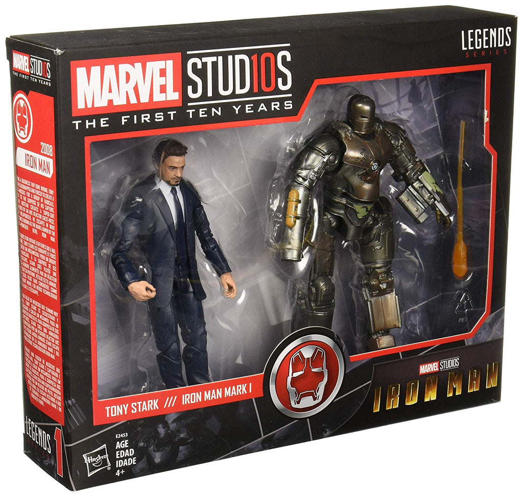 Marvel Studios Legends Series Hasbro Tony Stark & Iron Man Mark 1 2-Pack Action Figures
