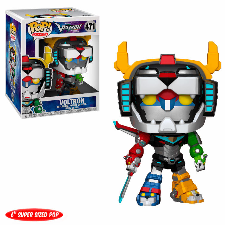 "Funko Pop 6"" Animation: Voltron Legendary Defender - Voltron"