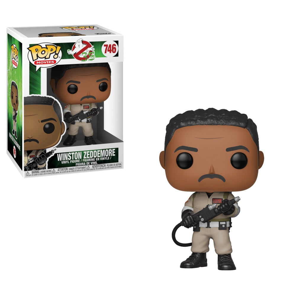 Funko Pop! Movies: Ghostbusters - Winston Zeddemore Collectible Figure, Standard, Multicolor