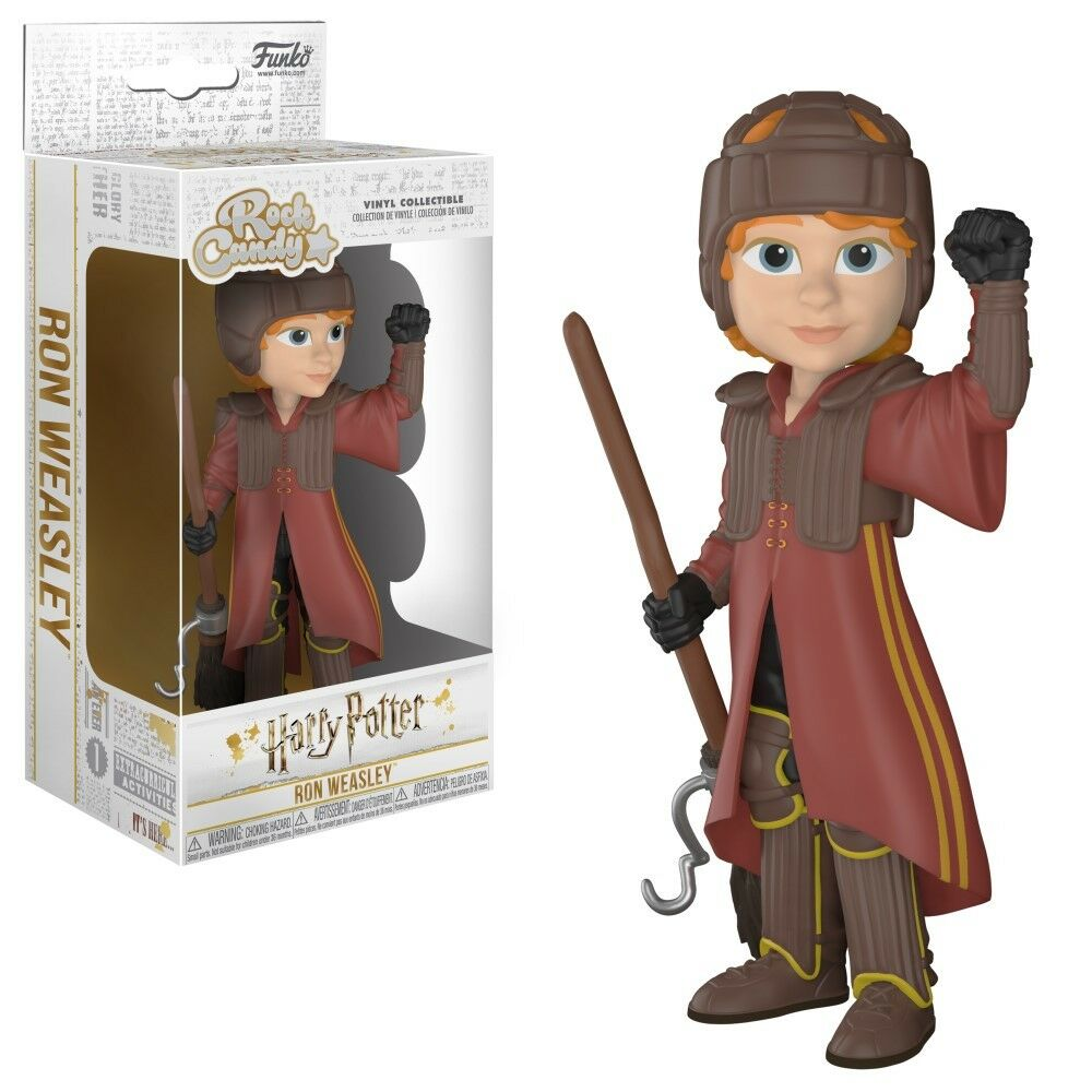 Funko Rock Candy: Harry potter- Ron with Quidditch uniforme