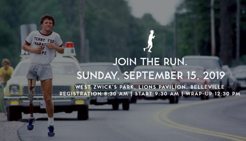 Save the Date: Sunday Sept.15 Terry Fox Run, Belleville