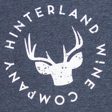 Load image into Gallery viewer, Close up of Hinterland logo tee